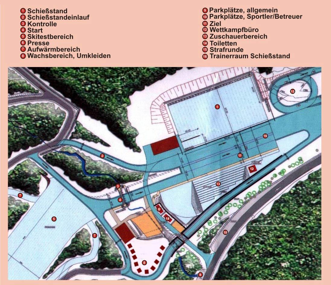 Biathlon im Hohenzollern Skistadion am Arbersee Ostbayern